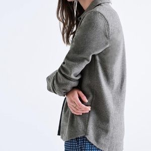 Madewell Shrunken Flannel Blouse Size Large NWT